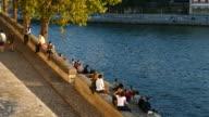 Seine River at Quai d'Orléans, Paris, Ile de France, France