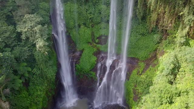Sekumpul Fiji Waterfall Singaraja Bali Drone View