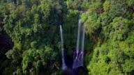 Sekumpul Waterfall North Bali Drone View