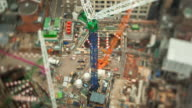 TL Selective focus of the Crossrail construction site in London.