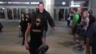 Selena Gomez arriving at LAX Airport in Celebrity Sightings in Los Angeles