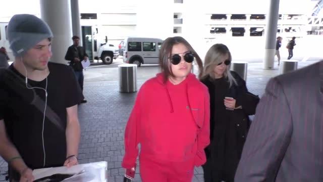 Selena Gomez departing at LAX Airport in Los Angeles in Celebrity Sightings in Los Angeles