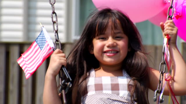 Selena's Swing, Balloons, and Flags 1