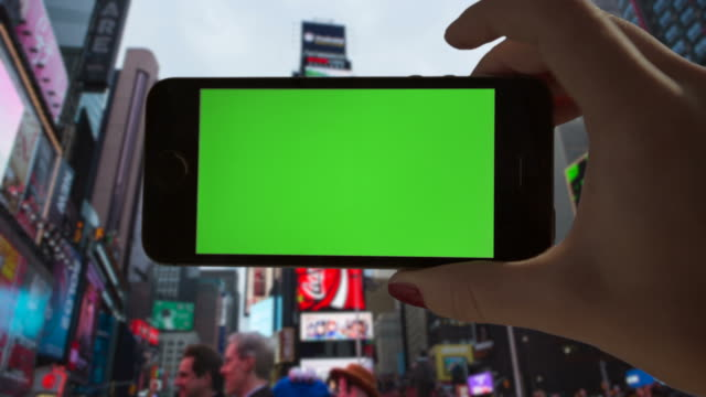 Selfie Green screen Chroma key Time Square Female One Person