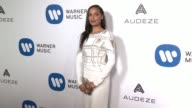 Selita Ebanks at Warner Music Group Grammy Party in Los Angeles CA