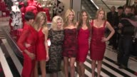 Selita Ebanks Marisa Miller Sharen Turney Heidi Klum Alessandra Ambrosio and Doutzen Kroes at the Victoria's Secret Angels Ribbon Cutting Ceremony...