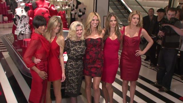 Selita Ebanks Marisa Miller Sharen Turney Heidi Klum Alessandra Ambrosio and Doutzen Kroes at the Victoria's Secret Angels Ribbon Cutting Ceremony...