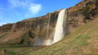 Seljalandsfoss waterfall video Iceland HD 1080