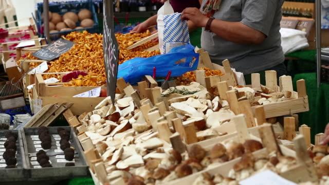 Sell of mushrooms on open market