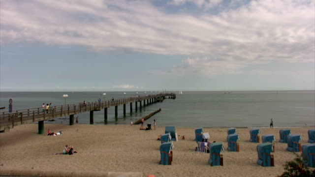 Sellin beach in the Baltic Sea