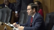 Senate Foreign Relations subcommittee chair Marco Rubio engages Organization of American States Secretary General Luis Almagro at a hearing on...