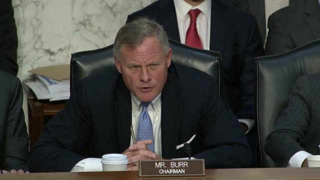 Senate Intelligence Committee Chairman Richard Burr of North Carolina discusses opportunities by foreign actors using for in foreign currency in...