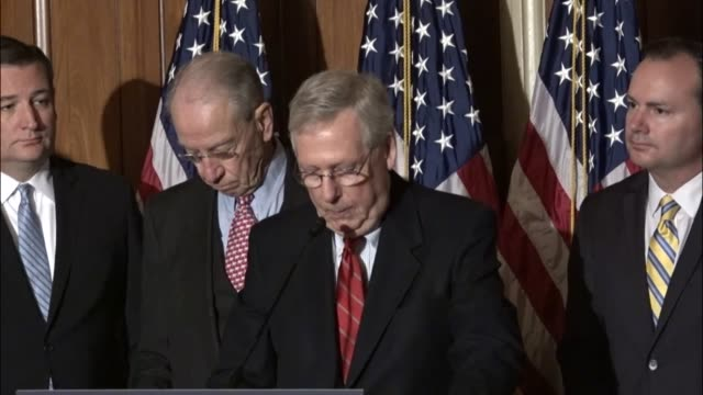 Senate Majority Leader Mitch McConnell of Kentucky says at a press briefing that President Obama applied the empathy standard to nominees to federal...