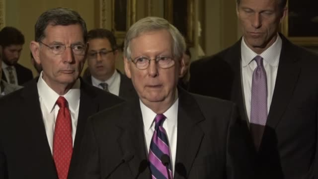 Senate Majority Leader Mitch McConnell of Kentucky tells reporters that Senate Republicans intend to work with House counterparts comprehensive tax...