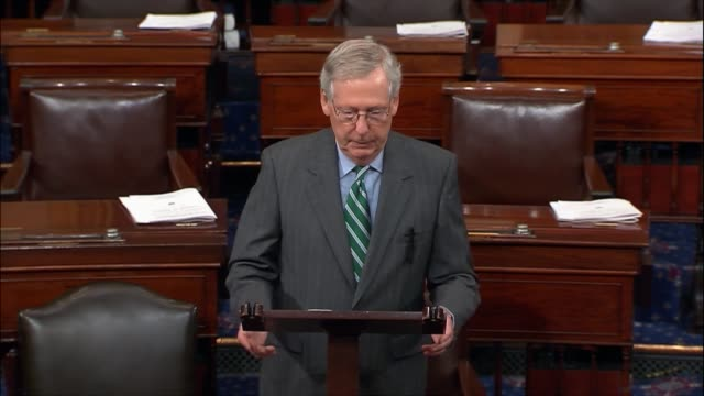 Senate Majority Leader Mitch McConnell says minutes after the release of a draft healthcare reform bill that Democrats had imposed Obamacare on the...
