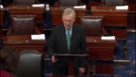 Senate Majority Leader Mitch McConnell speaks on the floor ahead of a cloture vote on limiting debate on the nomination of Oklahoma Attorney General...