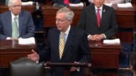 Senate majority leader which McConnell argues hours before a preliminary procedural vote on whether to consider the American Health Care Act passed...