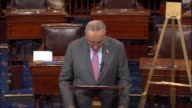 Senate Minority Leader Chuck Schumer of New York concludes a floor speech responding to the disclosed data breach of credit monitoring bureau Equifax...