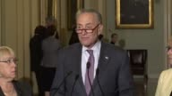 Senate Minority Leader Chuck Schumer of New York says that Americans can breathe a sigh of relief because health care for millions has been protected...