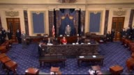 Senate President Pro Tempore Orrin Hatch follows tradition and custom in gaveling in a brief session of the Senate to commence the Second Session of...