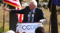 US Senator and Democratic presidential candidate Bernie Sanders addresses supporters on energy policy during the Blue Jamboree campaign event on...