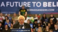 Senator Bernie Sanders an independent from Vermont and 2016 Democratic presidential candidate TKTK during a campaign event in Kenosha Wisconsin US on...