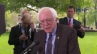 US Senator Bernie Sanders independent from Vermont confirms that he intends to run against Hillary Clinton for the 2016 Democratic nomination to run...