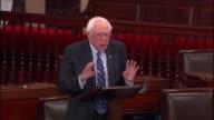 Senator Bernie Sanders of Vermont criticizes political efforts of billionaire Koch brothers in 2016 campaign