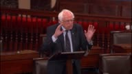 Senator Bernie Sanders of Vermont critiques global trade says 'not only is it the loss of jobs it is the race to the bottom'