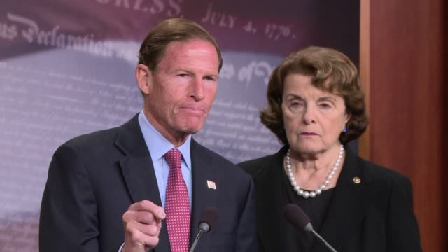 Senator Dianne Feinstein introduces legislation to ban / limit bumpstocks following the mass shooting in Las Vegas Senator Blumenthal of Connecticut...