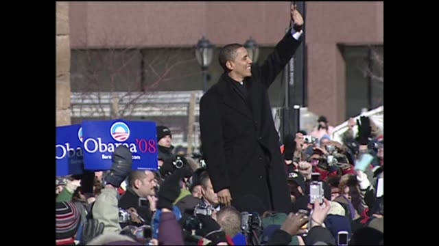 WGN Senator Dick Durbin Introduces Barack Obama at Obama Presidential Campaign Announcement in Springfield Illinois on February 10 2007