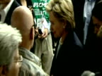 US Senator Hillary Clinton meets supporters whilst canvassing votes for presidential candidacy during nomination race USA 2008