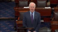 Senator John Cornyn of Texas speaks on the Senate floor the morning after the first televised presidential debate between Donald trump and Hillary...