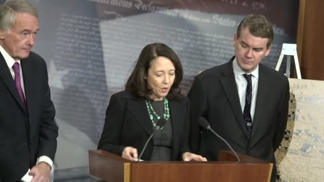 Senator Maria Cantwell tells reporters the Senators received a letter from wildlife biologists conducting research in the Arctic National Wildlife...