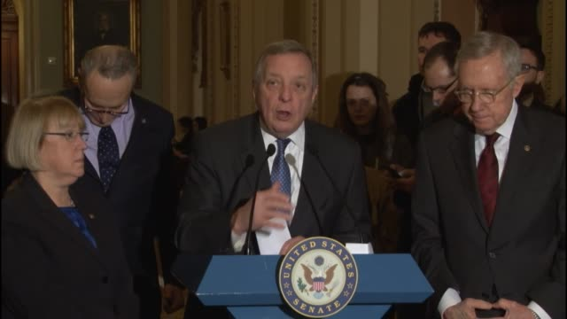 Senator Richard Durbin of Illinois tells reporters at a weekly briefing that government should ensure that the mentally ill and vulnerable women...