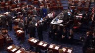 Senators reject a procedural motion to advance legislation restricting abortions to the first twenty weeks of pregnancy