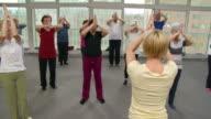 HD: Senior Adults Doing Pilates Exercises