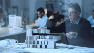 DS Senior architect making the architectural model