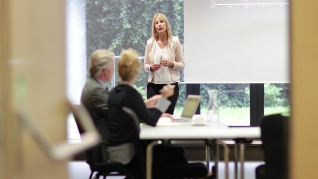 Senior business executive training staff