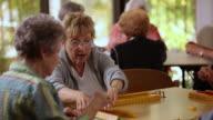 'MS PAN Senior citizens playing mahjong / Laguna Woods, CA, United States '