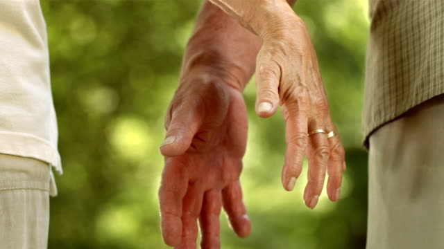 HD: Coppia Senior tenendo ogni altri mani