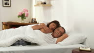 HD DOLLY: Senior Couple Sleeping In Embrace