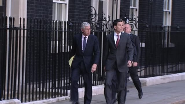 Senior Labour cabinet ministers outside No 10 Downing Street following Prime Minister Gordon Brown's announcement that he is to leave the party...