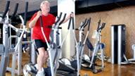 Senior man exercising