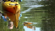 Senior Man Kayaking in Nature