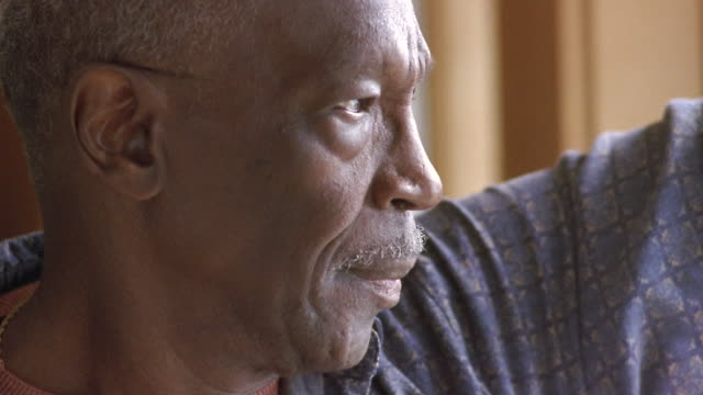 CU Senior man smiling / Washington State, USA