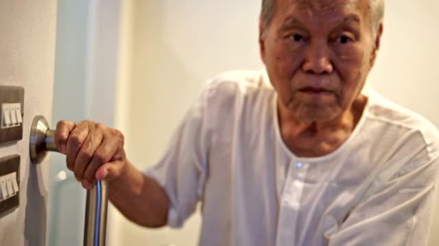 Senior Man Use Security Slippery Armrest