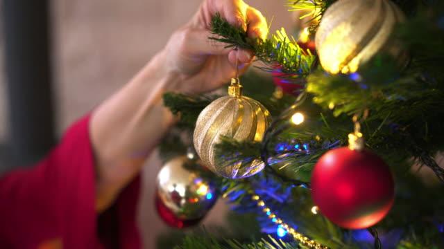 Senior woman celebrating Christmas at home