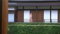 Ältere Frau im Kimono