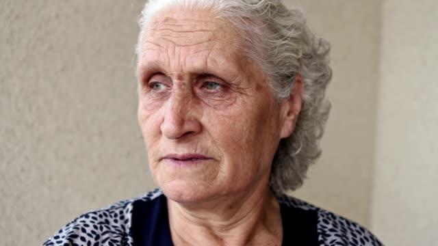 Senior woman portrait looking away